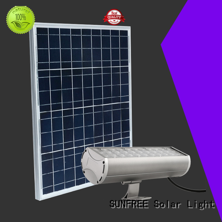 SUNFREE solar flood light supply for buildings