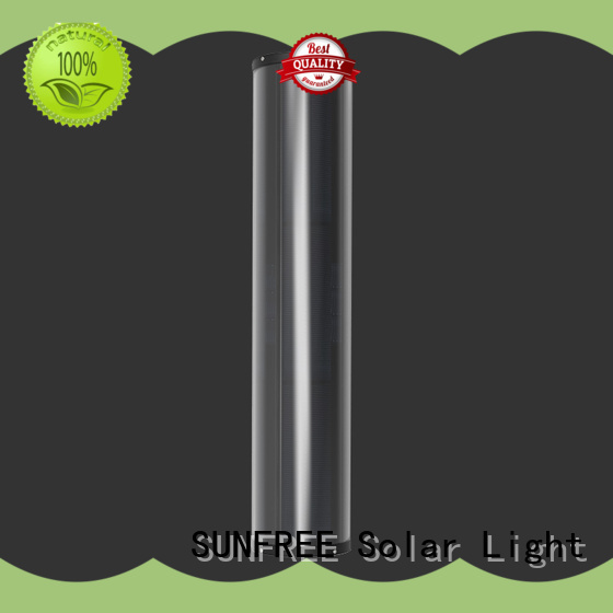SUNFREE durable solar light pole factory direct supply for parking lot