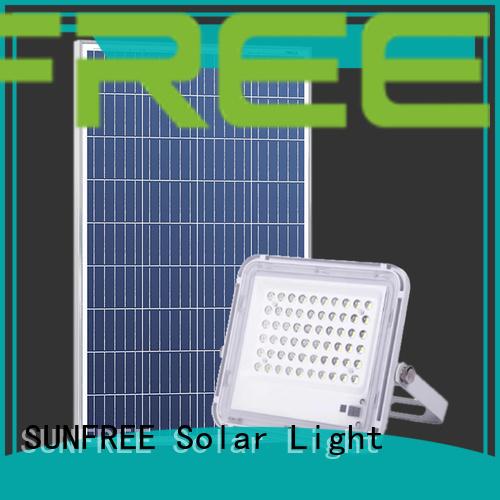 SUNFREE solar led flood lights factory for parking lot