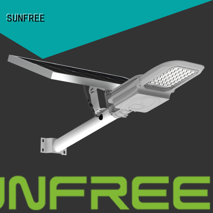 SUNFREE solar street light with good price for parks
