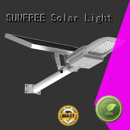 SUNFREE energy saving solar led street light wholesale for parking lot