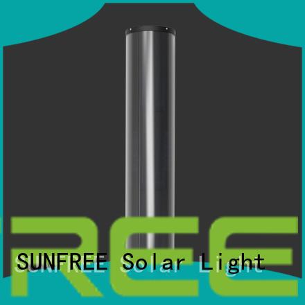 SUNFREE solar powered light pole supplier for highways