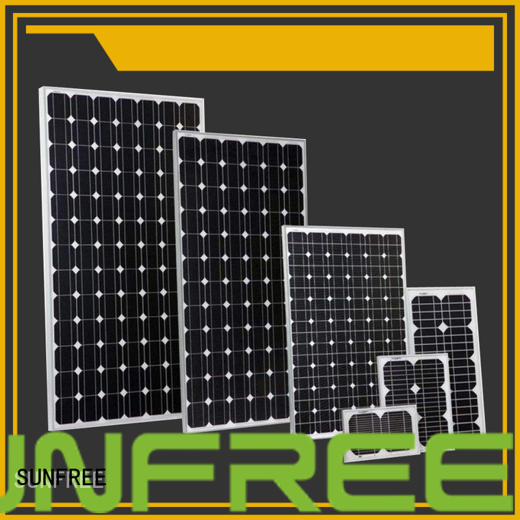 SUNFREE solar power panels with good price for electrical appliances