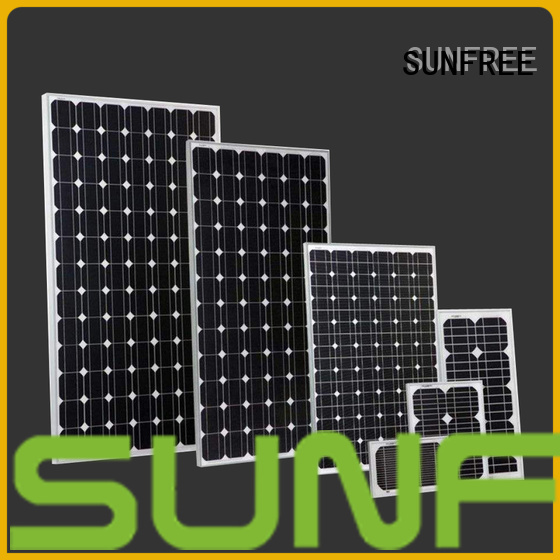 SUNFREE long lasting solar power panels factory direct supply for electrical appliances
