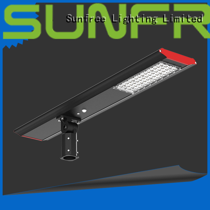 SUNFREE energy saving solar led street light with good price for parking lot