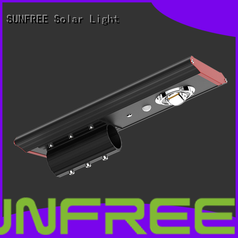 SUNFREE cost-effective solar powered street lights wholesale for buildings