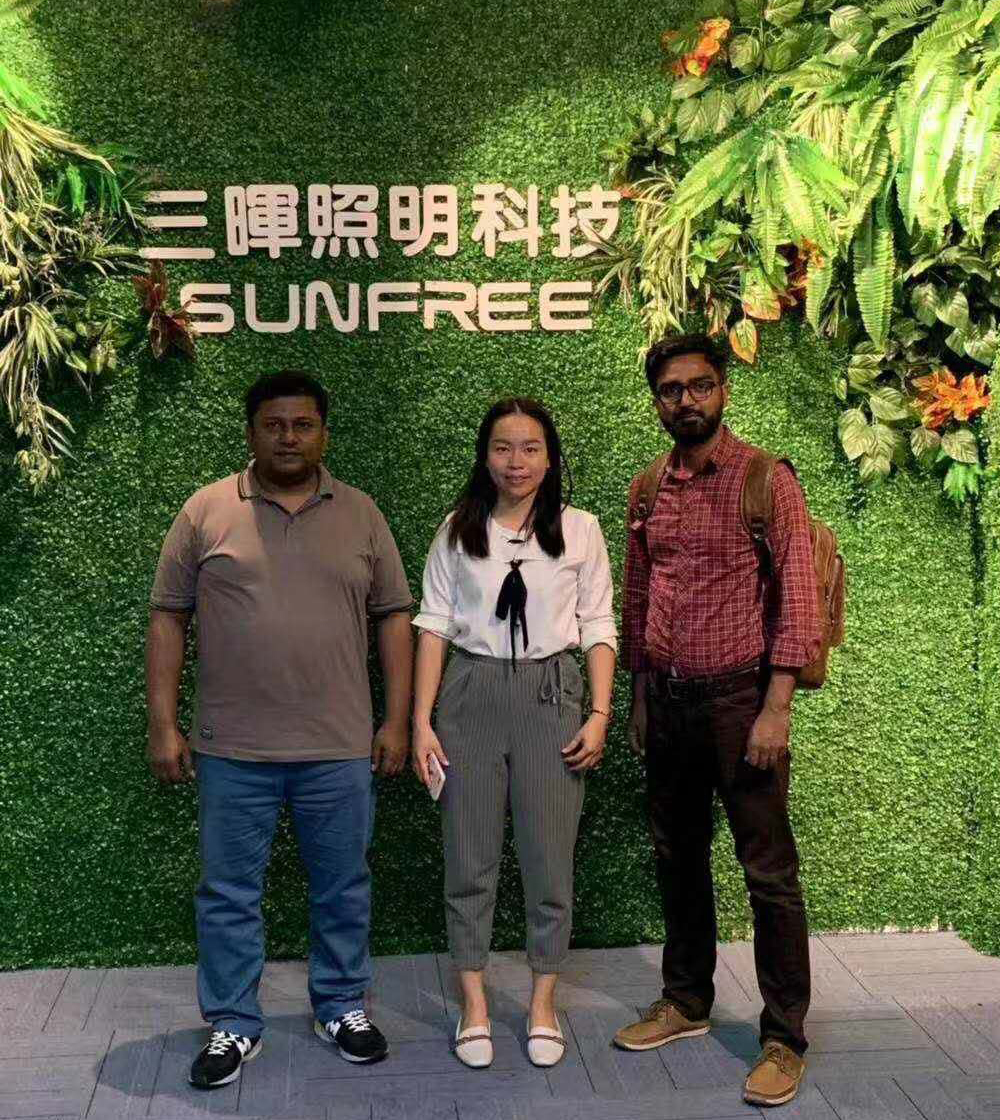 Sunfree Customer visit