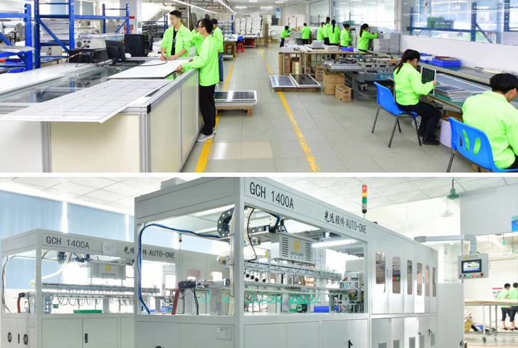 Sunfree Photovoltaic panel factory