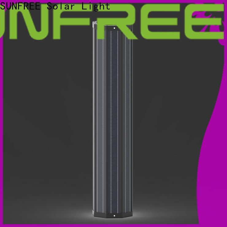 SUNFREE solar light pole factory direct supply for highways