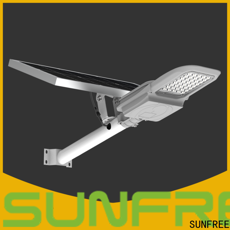 SUNFREE solar street light factory direct supply for buildings