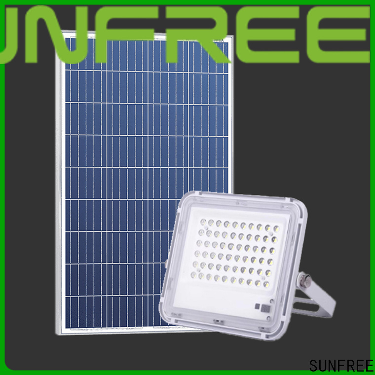 SUNFREE solar led flood lights suppliers for buildings