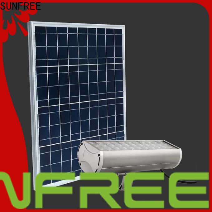 SUNFREE solar powered flood lights factory for highways