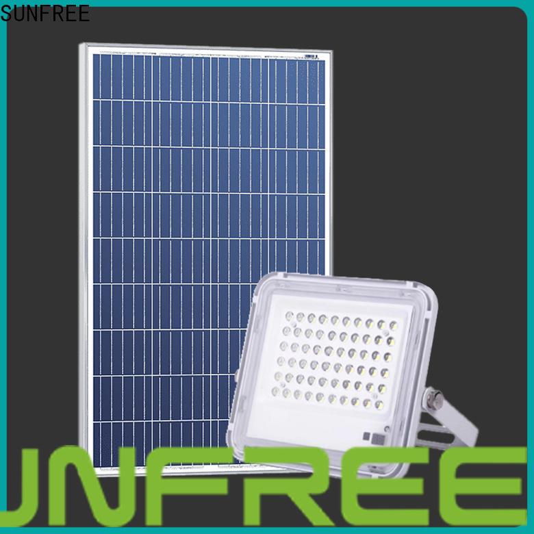 SUNFREE best solar flood light factory for buildings