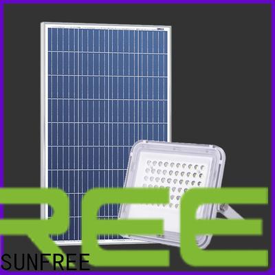 SUNFREE latest solar powered flood lights factory for roads