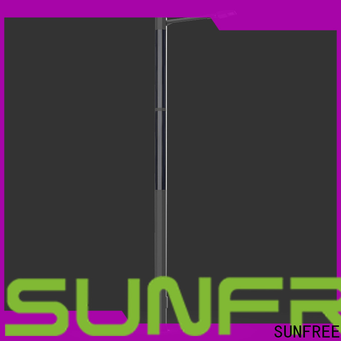 SUNFREE efficient solar powered street lamp with good price for roads